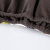 Многоразовый подгузник бамбуковый Угольный с бортиками от протекания