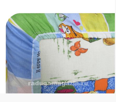 Простыня на резинке для детского матраса 120*60см