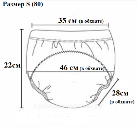 трусы для приучения к горшку описание размер 80 S