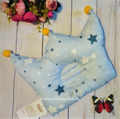Детская ортопедическая подушка Звезды