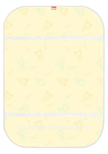 Наматрасник из клеенки 68х100 см в кроватку с резинками фиксации на матрасе