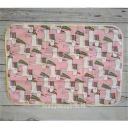 Непромокаемая пеленка 3-х слойная 50х70см, Единороги