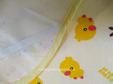 Пеленка непромокаемая с резинками фиксации 70*120см