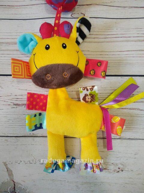 Игрушка (погремушка) подвесная 32 см, Жираф