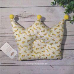 Детская ортопедическая подушка, бананы