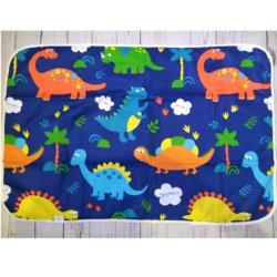 Непромокаемая пеленка 3-х слойная 60х90 см, Динозавры